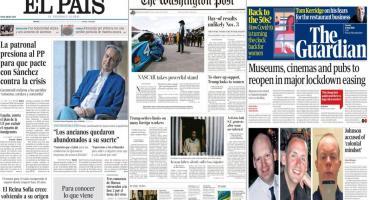 Tapas de diarios del mundo: efectos de la crisis por coronavirus en Europa