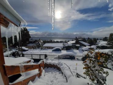 Ola polar en Bariloche: de sensación térmica de hasta -5,4 grados a la belleza del paisaje