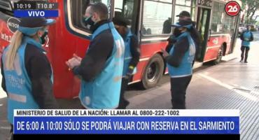 Cuarentena en el AMBA: fuertes controles en los accesos a la Ciudad y transporte público