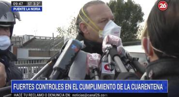 """Berni en control por cuarentena en Puente La Noria, pidió """"facilitarle la vida a la gente"""""""
