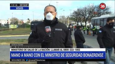 Sergio Berni en controles de tránsito: