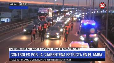 Cuarentena: largas colas y demoras en Puente La Noria por estrictos controles de circulación