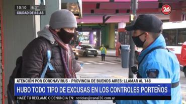 Controles en cuarentena: todo tipo de excusas de pasajeros sin permiso para circular