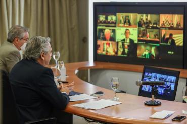 Fernández encabeza este Lunes videoconferencia con jefes de los bloques de la Cámara de Diputados