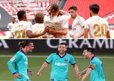 Real Madrid ganó en Bilbao por otro penal del VAR y sigue líder, Barcelona le pisa los talones con una goleada al Villarreal