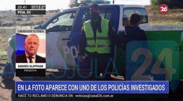 La última foto de Facundo Castro junto a uno de los policías investigados por su desaparición