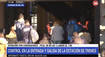 Coronavirus en Argentina: reforzaron controles en las estaciones de trenes