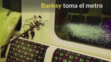 VIDEO DE ARTE CALLEJERO: el artista Banksy pintó con spray el metro de Londres con mensaje ante el coronavirus