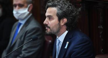 Informe de Cafiero al Congreso sobre la circulación entre provincias, ATP, deuda e incendios