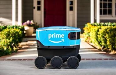 Scout es el nuevo robot delivery de Amazon que entrega pedidos en la puerta de tu casa