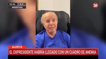 Volvieron a internar al ex presidente Carlos Menem