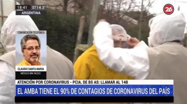"""Dr. Santa María sobre coronavirus: """"Preocupa el aumento de ocupación de camas de terapia intensiva"""