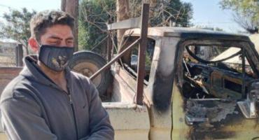 Coronavirus: vecinos incendiaron camioneta de un bombero voluntario porque creían que estaba infectado