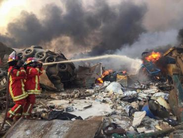 Las imágenes más impactantes de la terrible explosión que conmociona a El Líbano y al mundo