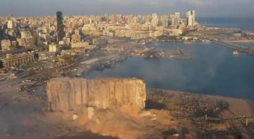 Video: el detalle de la onda expansiva de la explosión en Beirut grabado en cámara lenta y en alta resolución