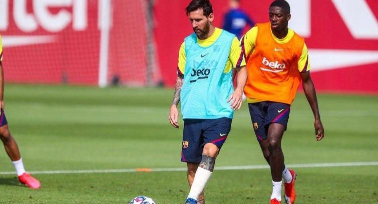 Messi y una foto que generó alerta en el entrenamiento del Barcelona, antes del duelo contra el Bayern
