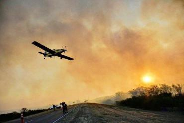 Los incendios avanzan sobre Villa Carlos Paz y piden alerta amarilla