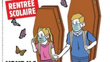 La impactante y polémica tapa de Charlie Hebdo sobre la vuelta a las clases en Francia