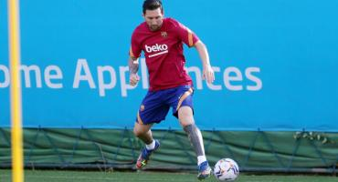 Tras polémica, Messi volvió a entrenarse con Barcelona e inició formalmente la pretemporada