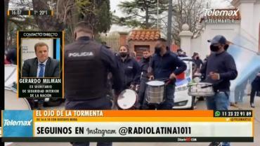 """Milman sobre protestas de la Policía Bonaerense: """"Hace falta que el Estado nos de la garantía de paz y no una discusión histérica"""