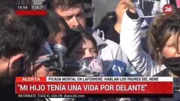 El dolor de los padres de nene que murió por una picada en Laferrere: