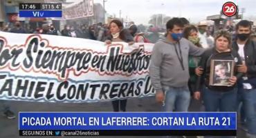 Picada mortal en Laferrere: familiares, vecinos y amigos de Tahiel cortaron otra vez Ruta 21 en reclamo de justicia