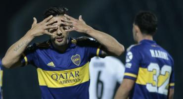 Doblete de Salvio para gran triunfo de Boca por 2 a 0 ante Libertad por Copa Libertadores
