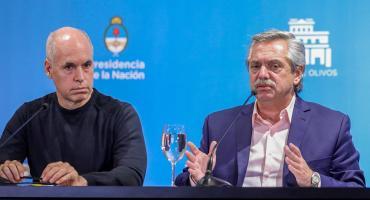 Crece la tensión entre Fernández y Rodríguez Larreta: Nación le recorta más fondos de coparticipación a Ciudad de Buenos Aires