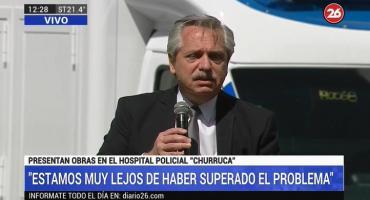 Alberto Fernández en Hospital Churruca: