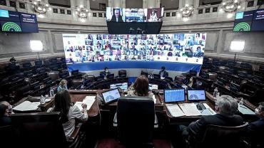 VIVO - Sesión remota en Senado por coparticipación de Ciudad de Buenos Aires