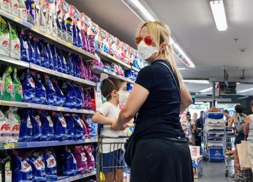 INDEC: ventas en supermercados subieron 2,6% interanual en diciembre de 2020 con alza de 0,8% en el año