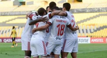 Flamengo derrotó a Barcelona y el Nacional venció a Estudiantes de Mérida