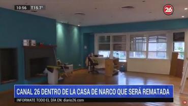 VIDEO: Canal 26 en el interior de la mansión narco de U$S2 millones que será subastada