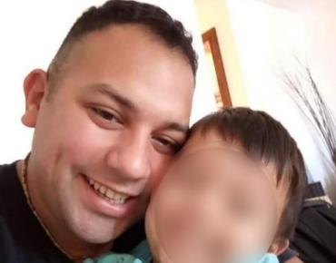 """La dolorosa reacción del hijo del policía asesinado, tras ver el video: """"Papá se murió"""""""