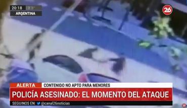 VIDEO: así fue el ataque al policía apuñalado y asesinado en Palermo