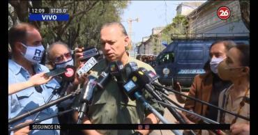 Berni en el entierro de Roldán, el policía asesinado: