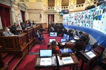 Senado: el oficialismo aprobó prórroga de sesiones virtuales y la oposición se retiró del debate