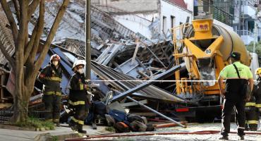 Belgrano: quisieron mover una losa y se produjo un derrumbe en obra de construcción, varios heridos