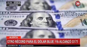 Dólar imparable: el blue toca un récord y cotiza a $171