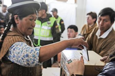 El Tribunal Electoral suspendió el conteo rápido de votos en las elecciones en Bolivia