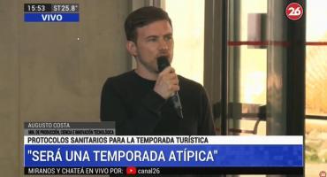 Augusto Costa, presentación de protocolos sanitarios para la temporada turística: