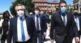 Alberto Fernández junto a Cafiero y Massa, caminaron desde La Rosada hasta el CCK en el homenaje a Néstor Kirchner