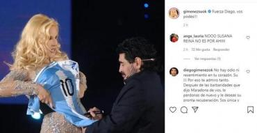 Susana Giménez posteó un mensaje para Diego Maradona: