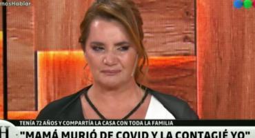 Nancy Pazos quebrada en llanto, a dos meses de la muerte de su mamá por Covid: