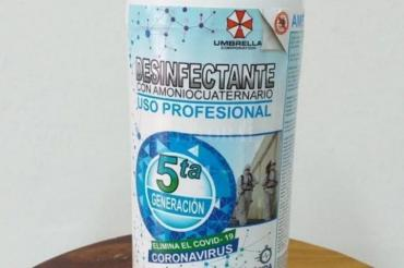 Anmat prohíbe un desinfectante que afirma que elimina el coronavirus