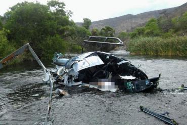El helicóptero de Jorge Brito impactó con los tensores de una tirolesa, según primeros peritajes