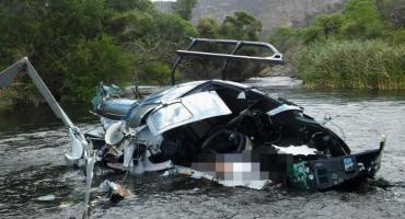 Las primeras imágenes del accidente donde falleció Jorge Brito