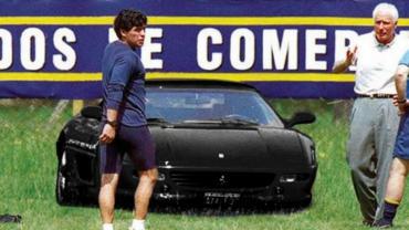 Diego Maradona y su capricho por tener una Ferrari negra