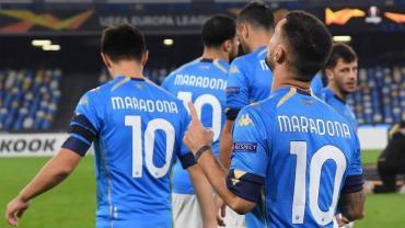 El homenaje de Napoli a Maradona