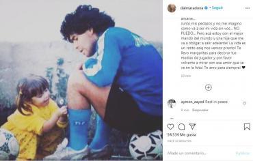 Dalma Maradona despidió a Diego, su papá: